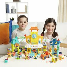 Playdoh 3 in 1 Town Centre Ages 3+ New Toy Boys Girls Hasbro Flower Play Doh