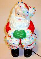 "Large 15"" Santa Claus Light Up Ceramic Mold NOT Winking Christmas Figure Vtg"