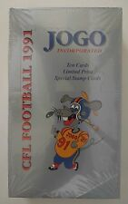 JOGO Inc 1991 CFL Football Cards Sealed Box - BRANd New -