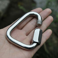 Triangle Mountain Rock Climbing Stainless Steel Screw Lock Carabiner Outdoor.Kit