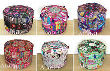 """22"""" Round Assorted Patch Ottoman Pouf Cover Foot Stool Home Decorative Covers"""
