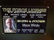 Star Wars Mace Windu Samuel L Jackson fake Id i.d card Drivers License