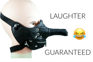 CṎVID JOKE-GIMP MASK-FUNNY DICK HEAD MASK-REUSABLE-FANCY DRESS-STAG/HEN PARTY