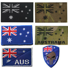 Reflective Australia Nation Flag Badges Sew On Embroidered Morale Patch Tactical