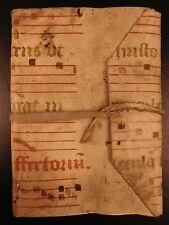 Handwritten Merchant Trader Manuscript in Medieval Illuminated Vellum BINDING