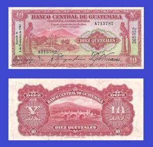 Guatemala 10 quetzales 1941 UNC - Reproduction