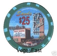 Sands Casino Las Vegas Sinatra Rat Pack $25 Chip Poker