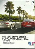 BMW 6  SERIES COUPE AND CONVERTIBLE SALES BROCHURE  2011