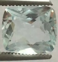 3.45 Ct Natural Aquamarine Cushion Blue Color Loose Gemstone