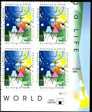 Adoption - Scott #3398 Plate Block of 4 Stamps MNH