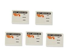 Oil Change Static Cling Stickers x5