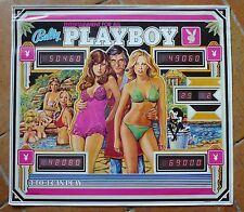 RARE AFFICHE PUBLICITAIRE PLAYBOY BALLY PINBALL1978 PIN UP PRINT SEXY FEMALE