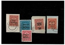 Poland- 1919 lot stamps with overprint (singed Mikstein) USED