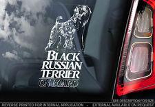 Black Russian Terrier - Car Window Sticker - Dog Sign -V01