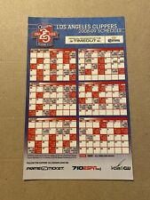 Los Angeles Clippers 2008-2009 NBA Schedule MagnETIC