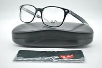 NEW RAY BAN RB 5375 2034 POLISHED BLACK AUTHENTIC EYEGLASSES FRAMES RX 53-18