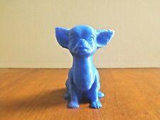 statuette figurine chihuahua bleue imprimé 3D PLA environ 10,2 x 8 x 9,5 cm