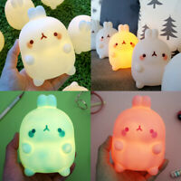 Molang Bedroom Lamp LED Night Mood Light Kid Bed Room Camping Interior Decor