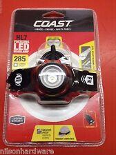 Coast HL7 LED Focusing Dimmable Headlamp Hard Hat Clip Headband Head Light