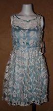 NWT $129 Gianni Bini Juniors Floral Blue Dress Size Small