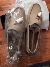 cole hann shoes women 8.5 suede loafers ,grayish white