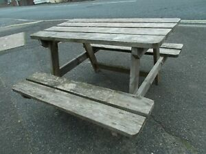 Child Size Picnic Table 34 inches long  x 38 wide x 21 high   Buyer to collect