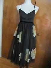 Anthropologie Moulinette Soeurs women's black detailed evening dress size 2 NWT