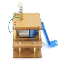 Dynamo Hand Crank Generator Emergency Electronic Experimentation DIY Kit US