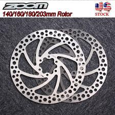 ZOOM 140/160/180/203mm Rotor MTB Bike Disc Brake Rotor T25 Screws Torx Wrench US