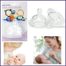 4 x Variflow Silikon Saugern 0+m Babyway Feed Wide Neck Flaschen anticoloic Ventil