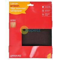 Amtech 10Pc Sanding Sheet Sandpaper 80 120 180 Grit Assorted Pack 280 x 230mm