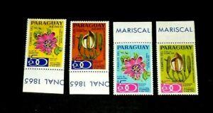 PARAGUAY,1970, FLOWERS, REG. & AIRMAIL,UNLISTED, TAB SINGLES, SCARCE! MNH, LQQK