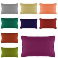 Lumbar Pillow Cover with Piping Zipper Travel / Toddlers / Cot Pillow Case