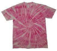 Pink TIE DYE T SHIRT Spiral Top Tye Die Tshirt Festival Rainbow Tee Rave Kids