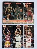 NBA Basketball League Leaders Armstrong Mullin Smith Stockton Cards 253 288