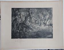Joaquim MARTI BAS BLASI Lithographie litografia Don Quijote Quichotte Clavé