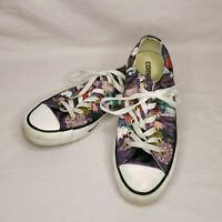 Converse Womens Size 7 US Purple Floral All-Star Chuck Taylor Sneakers Shoes
