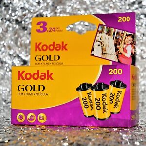 *NEW* Kodak Gold 200 35mm (24 exposures) film - 3 rolls pack