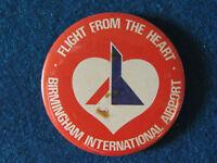 Birmingham International Airport - Button Badge - 1980's?