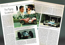 Old JACKIE STEWART F1 Formula One Grand Prix Article/Photos/Pictures