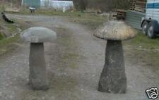 Pair of Staddle stones  ( statue garden stone ornament   )