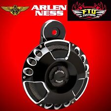 Arlen Ness Horn Kit Deep Cut Billet Black 1991-2017 HD Big Twin/Custom 70-200