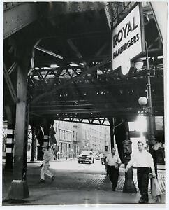 Vintage Fine Art Street Photograph New York City Elevated Train Alfred Statler