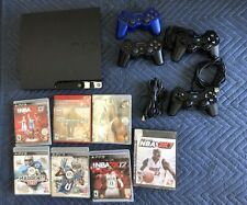 Sony PlayStation 3 PS3 Slim 150GB Console Bundle: 4 Controllers + 7 Games