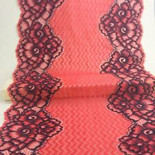1Yard 22.CM red Elastic lace   garment   Bilateral Lace Fabric   Small stretch