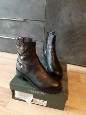 Luxus Ital. MARIPE  Damen Leder Stiefeletten Boots Gr.38