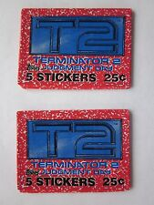 2 Wax Packs of 1991 Topps Terminator 2 T2 Non Sport Stickers Judgement Day Nr Mt