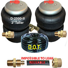 "2 Air Ride Suspension 2500-II (2"" Taller) Air Bags 3/8""npt 3/8"" Airline Splitter"