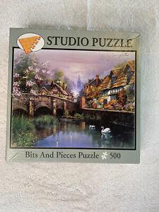 "Jigsaw Puzzle Bits And Pieces ""Quaint Village"" Studio Puzzle 500 Pieces COUNTED"