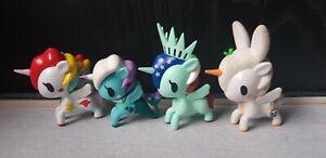 ~~~ Lot of 4 Tokidoki Unicorno Characters *Liberty,Usagi,Stellina, Mermaid* ~~~